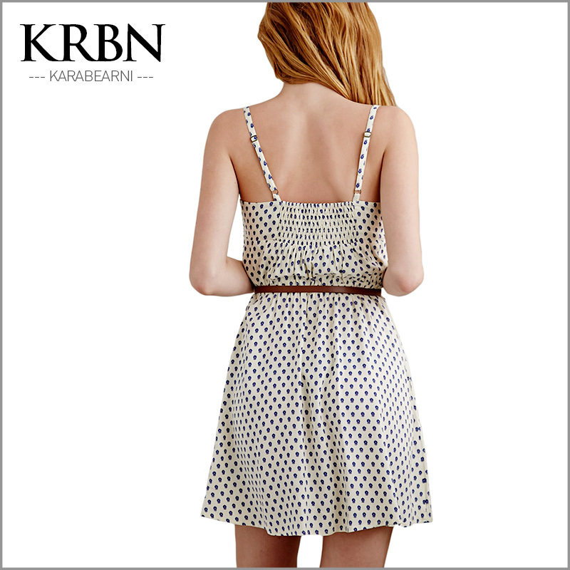 womens summer dresses 2015 summer plus size women clothing women dress chiffon casual sleeveless print mini beach dress 15097-43(China (Mainland))