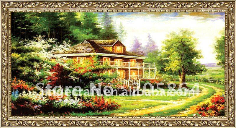 Big size Scenery wall Art picture Classical Jacquard Gobelin Tapestry Parity fabric are Home DEC Pictures Factory Wholesale(China (Mainland))