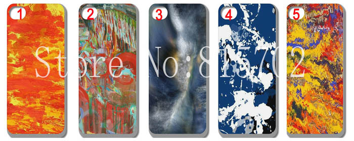 New glossy abstract pattern artist graffiti Hard Case Cover for iPhone 4 4S 4th 4G 10pcs/lot free shipping(China (Mainland))