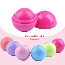 New Makeup Round candy color Moisturizing lip balm Natural Plant Sphere lip gloss Lipstick Fruit Embellish lip smacker CG010(China (Mainland))