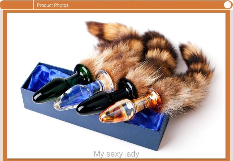 2013 Новый дизайн высокого качества кристалла лиса док plug-in/Crystal анал