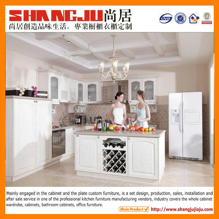 E1 environmental protection whole set integrated white for Kitchen set environment