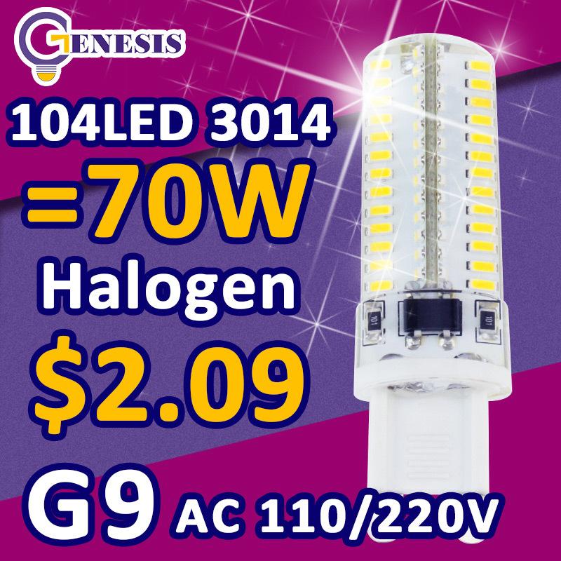 2015 New G9 LED BULB dimmable Lamp corn bulb droplight SMD 2835 5w 7W 3014 6W 110V 220V 9W 12W 15W 18W Replace 30W 70W halogen(China (Mainland))