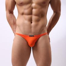 B1133 Men Sportswear Sexy Briefs Bikini low rise Smooth Spandex Underwear Beachwear Swimwear Brave Person(China (Mainland))