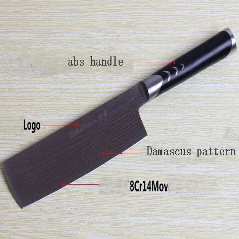 """8 """" дюймов нож шеф-повара высокое качество 73 слоев японского VG10 булата кухня нож тесак деревянной ручкой бесплатная доставка(China (Mainland))"""