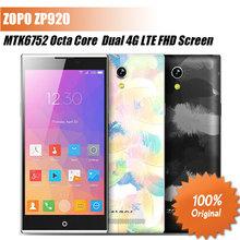 Original ZOPO ZP920 Smartphone MTK6752 Octa Core 64bit 4G FDD LTE Phone 5.2' FHD Screen 2G ram 16G rom Android 4.4(China (Mainland))