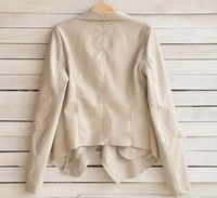 новые женской моды Зима пу кожаный пиджак черный ягненок строчки Ветер пальто молнии прохладно пальто рукав пэчворк пальто cx656599