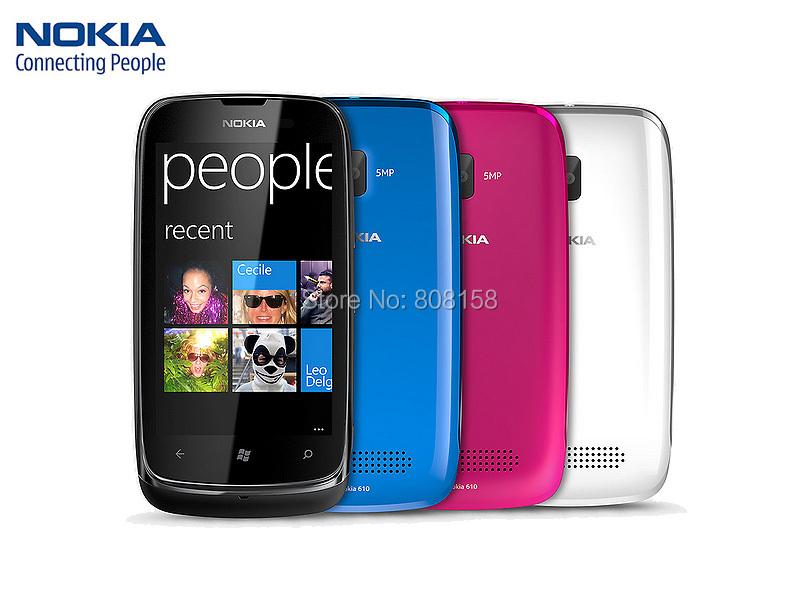 Hot Sale Unlocked 610 Original Nokia Lumia 610 Windows Mobile Phone 8GB Storage Camera 5.0MP GPS Wifi 3G Smart Phone(China (Mainland))