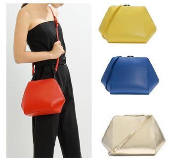 Ad375 современная мода твердые геометрическая молния PU женщин леди девушка crossbody сумка день клатч пандора сингапур