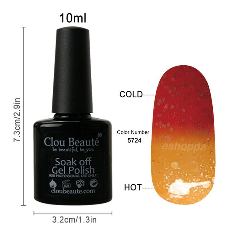 Special Price Clou Beaute 5724 Beautiful Temperature Change Color Nail Polish UV Led Nail Lamp(China (Mainland))
