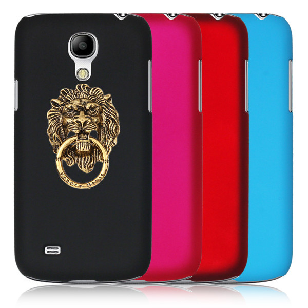 New Arrival Fashion Hard Plastic Phone case Ring Stand Lion modelling Sticky Mobile Holder For Samsung Galaxy S4 Mini i9190(China (Mainland))
