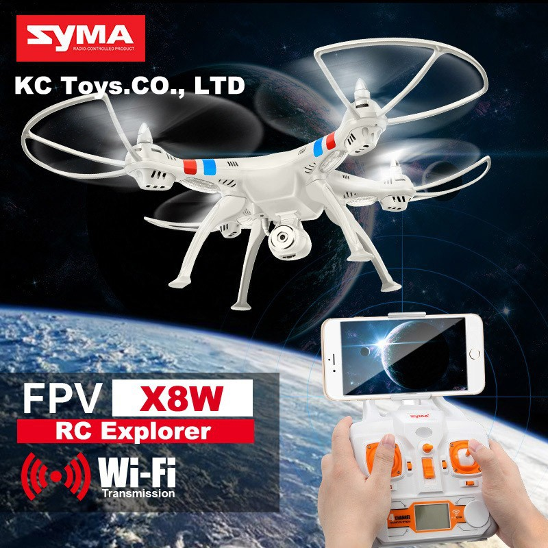 SYMA x8w FPV WiFi RC helicopter drone quadcopter 6-Axis drones With  RC Camera drone and 1pcs Battery and 1pcs charger  As Gift<br><br>Aliexpress