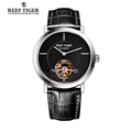 Reef Tiger RT Tourbillon Casual Watch For Men Business Automatic Watches Ultra Thin Steel Watch with