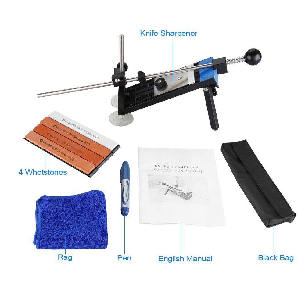 Professional Kitchen Knife Sharpener Sharpening NEW Updated Fixed Angle with 4 Pcs Stones Ruixin I Lansky Knife Sharpener Hot(China (Mainland))