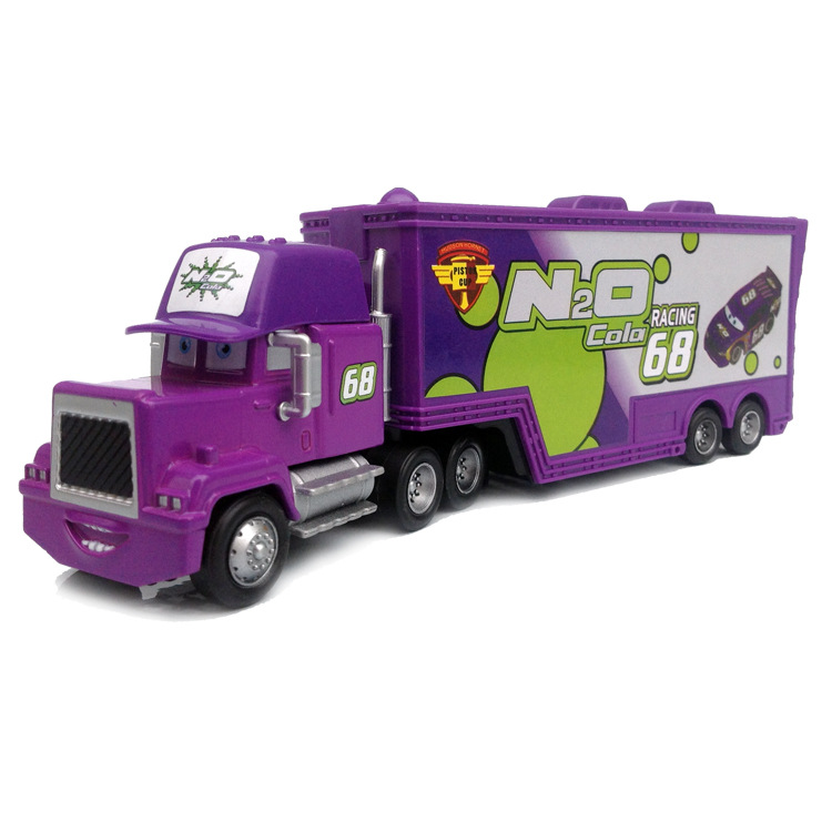 D0063 Funny Pixar Cars diecast figure toy Alloy Car Model for kids children Toy-Container truck purple NO.68(China (Mainland))