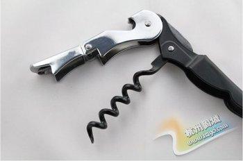 freeshipping 100pcs/lot Waiter's Wine Tool Bottle Opener Corkscrew Knife Pulltap Double Hinged Corkscrew