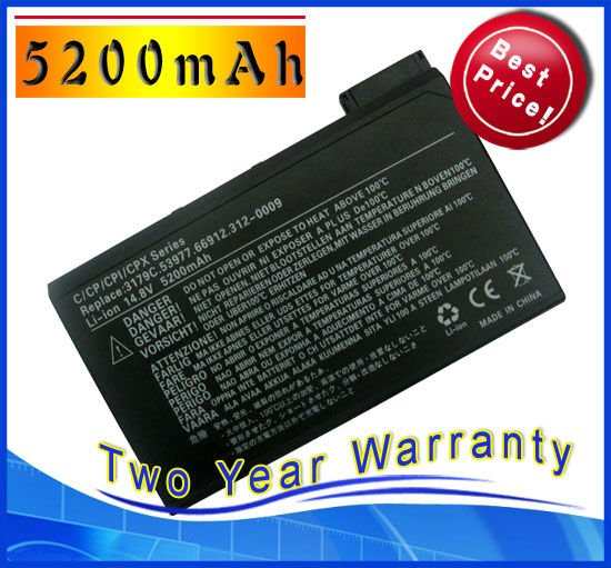 5200mAh Battery for Dell Latitude C500 C510 C540 C600 C610 C620 C640 C800 C810 C840 C CP PPX PPL CPXH 500GT(China (Mainland))