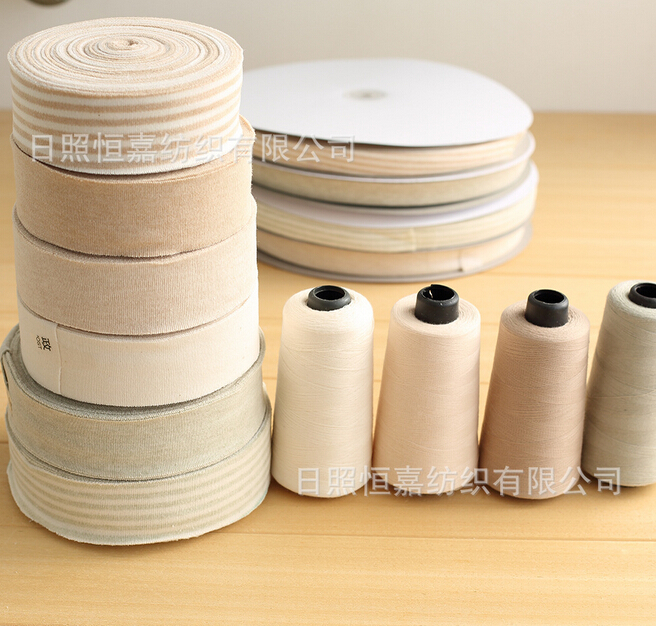 35mm Width 100% cotton fold over Elastic edge binded Webbing Ribbon Belt Band for baby Garments Accessory A29(China (Mainland))