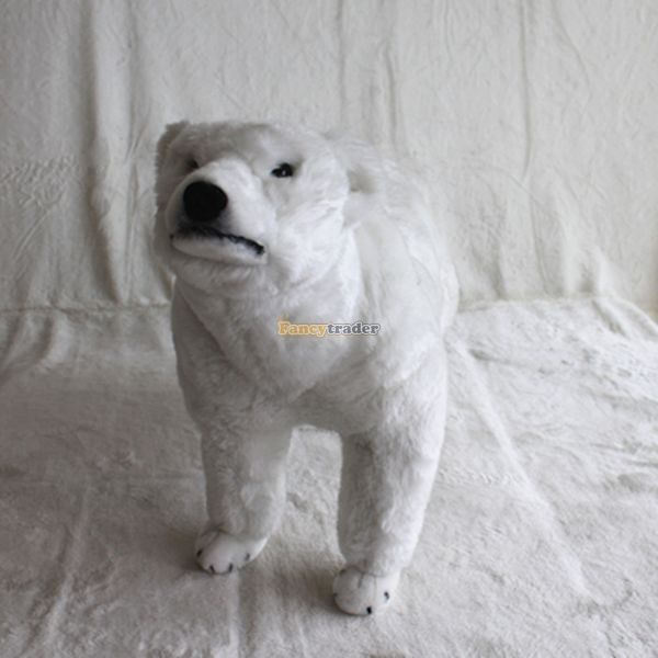 Fancytrader 39 / 100cm Giant Plush Stuffed Emulational Polar Bear, 2 Models Available, Free Shipping FT50615<br><br>Aliexpress