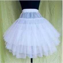 2016 Hot 3-Layer Wild Wedding Bridal Petticoat Short Gauze Pleated Tutu Ballet Skirt Slip Free&Drop Shipping 2016 hot sales(China (Mainland))