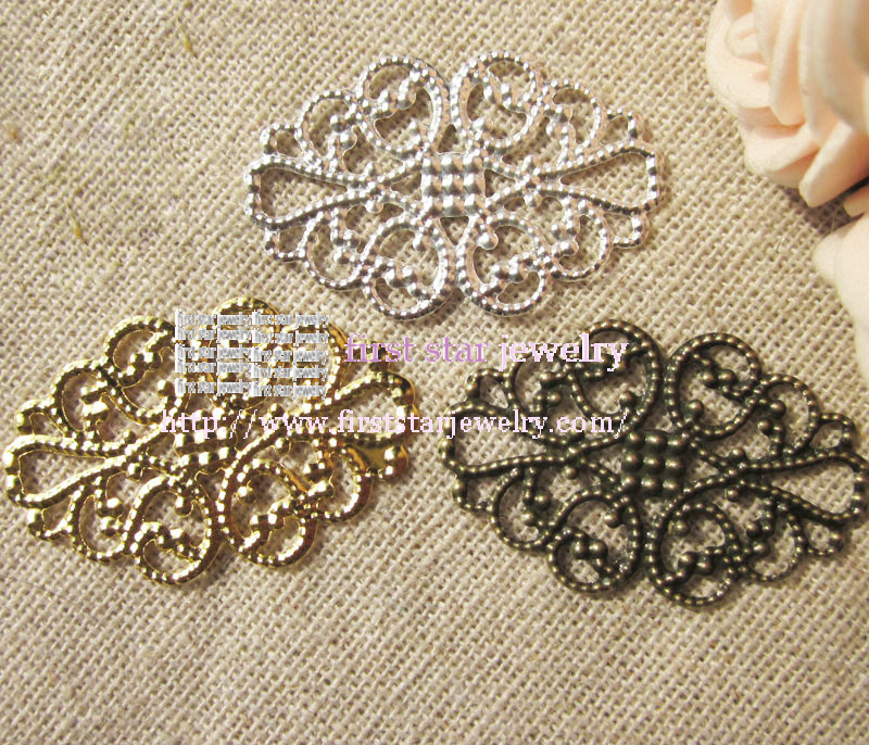 20*32mm silver /bronze/gold plattte filigree connector  jewely findings/200pcs