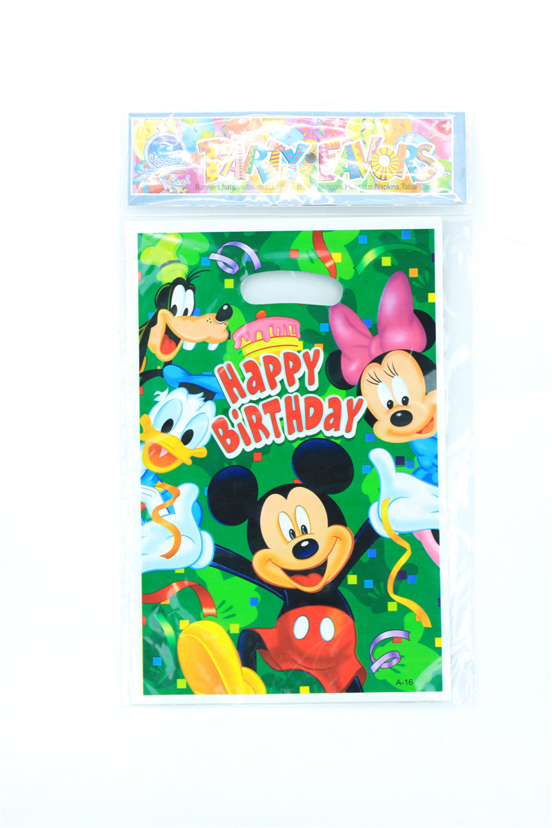 30pcs Mickey Mouse Clubhouse loot bag souvenirs goody treat lolly bag(China (Mainland))