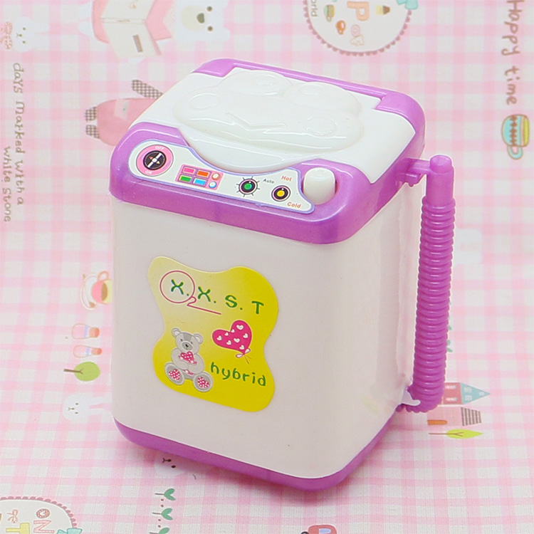 Small Washing Machine For Barbie Candy Present For Kelly Vogue Lady Doll's Equipment