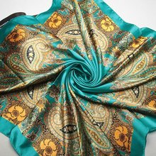 Women 90*90cm satin Square Scarf High Quality Imitated Silk Satin Scarves Shawl Hijab 2014 fashion style