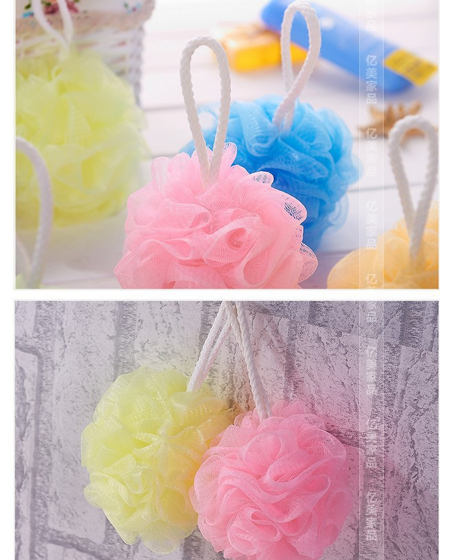 new bath products sponge loofah exfoliating gloves Shower Set Mesh Net Scrub Strap Exfoliate Puff Sponge Loofah Flower Lace Ball(China (Mainland))