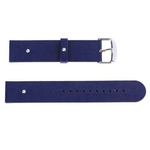 Dark Blue Band 38mm Cortical Texture Replacement PU Leather Watchband for Apple Watch