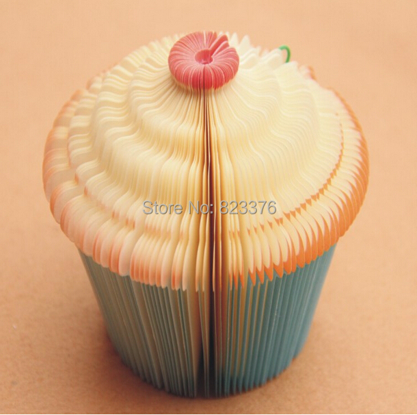 DHL Freeshipping 100pcs 3D Cupcake Fairy Cake Shape Note Memo Pads Paper Notepads Fruit notepad Novelty Paper Cute Note Notepad(China (Mainland))