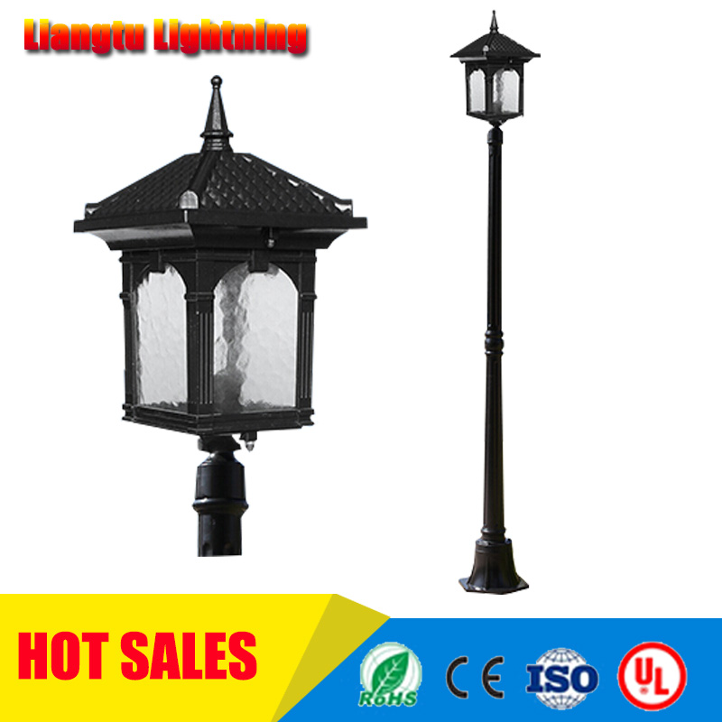 street light Garden pole lamp led road lighting villa courtyard aluminum light fitting waterproof 220v/110v(China (Mainland))