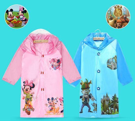 2016 New Kids Rain Coat Children's Raincoat Rainwear Cartoon Animal Poncho Rainsuit Outdoor Rainwear For Children(China (Mainland))