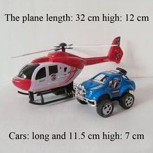 2pcs/lot Top Quality Pull Back Plane Model Suits Helicopter+ SuvsPlastic Mini  Model Car  Toys Kids Red Plastic Airplane(China (Mainland))