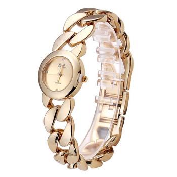 Top Brand Luxury Fashion Chain Bracelet Watch Women Quartz Wristwatch Ladies Dress Watch Reloj Mujer Montre Femme Horloge WY490