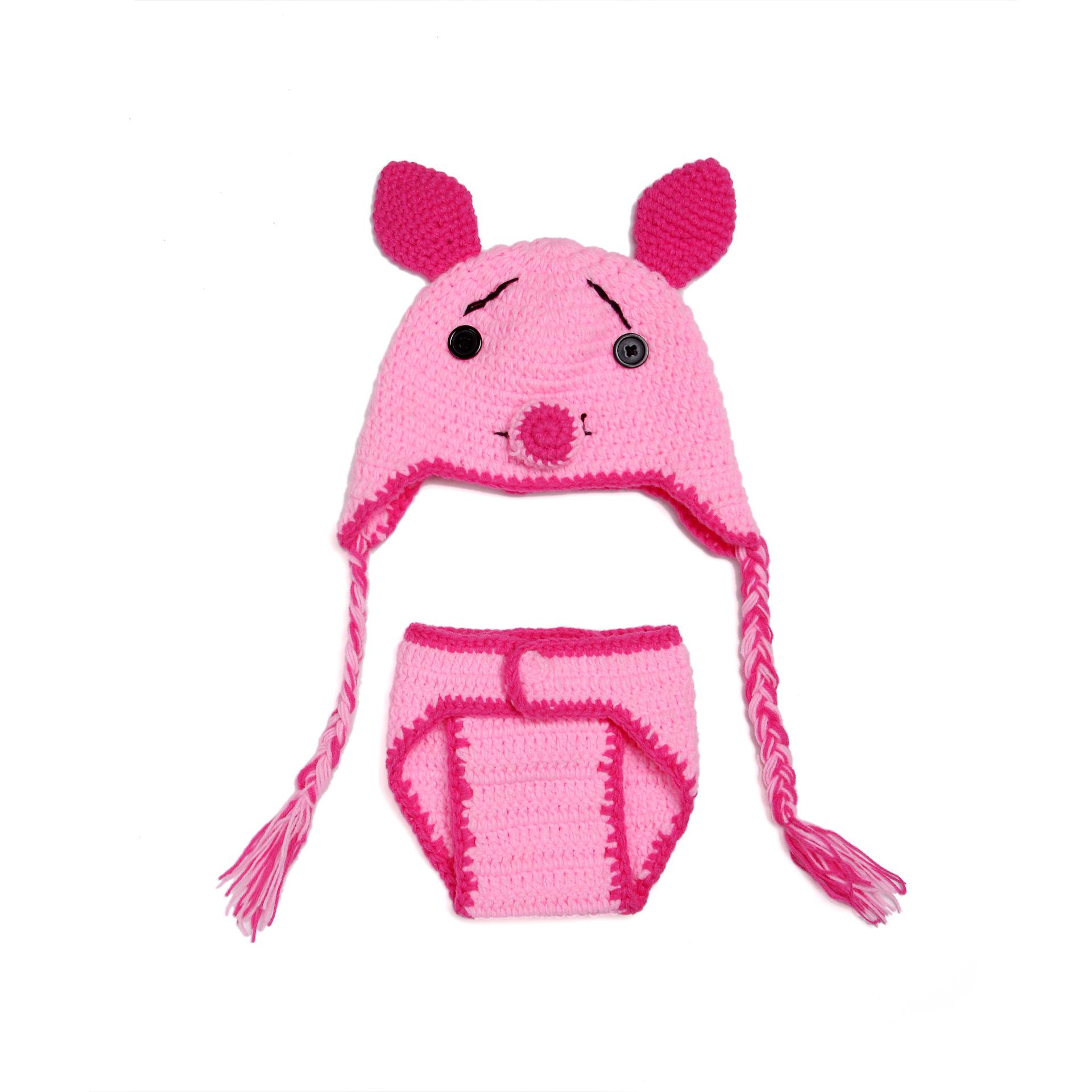 Knitting Pattern For Baby Oleg : New Design Animal Baby Girl Hat And Shorts Set Newborn Crochet Outfits Knitte...