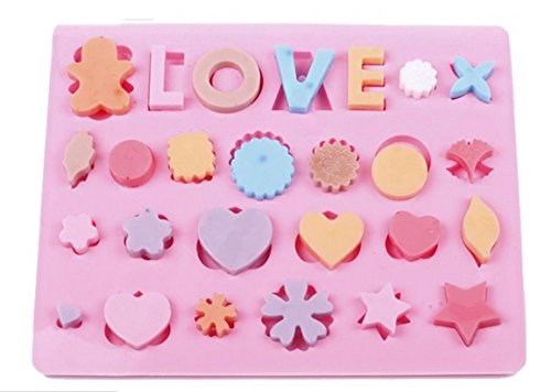 NEW Love Hearts Shape Silicone Cake Bakeware Tools Chocolate Ice Mold Cake Decoration Jelly Pudding Kitchen Cooking Mould(China (Mainland))
