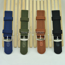 Durable Nylon Watch Strap Band Bands Green / Black for 18mm 20mm 22mm 24mm