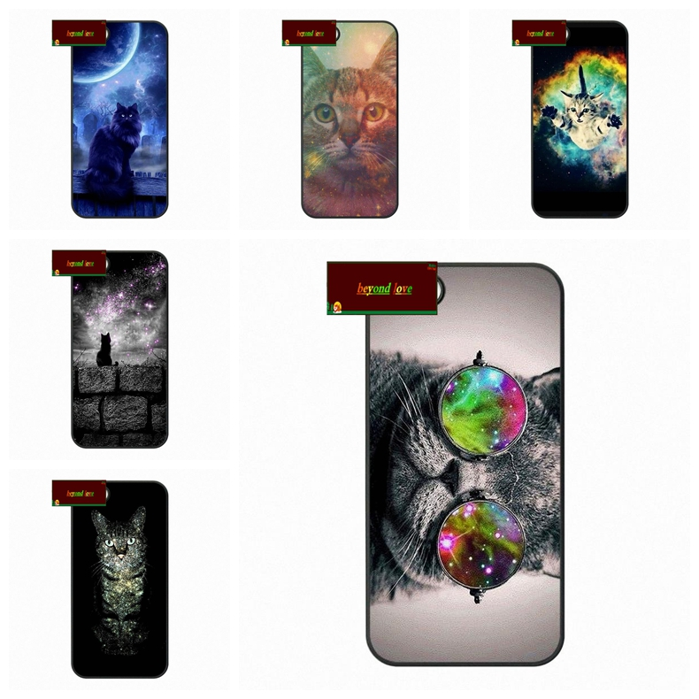 Nebula Space Cute Cat Cell Phone Cover case for iphone 4 4s 5 5s 5c 6 6s plus samsung galaxy S3 S4 mini S5 S6 Note 2 3 4 DE0912(China (Mainland))
