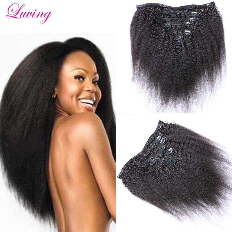 Clip In Afro Hair Extensions Remy Indian Hair