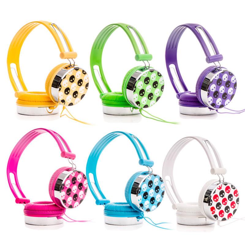 6 Pcs Colors Rockpapa Skull Over head DJ Style font b Headphones b font Earphones for