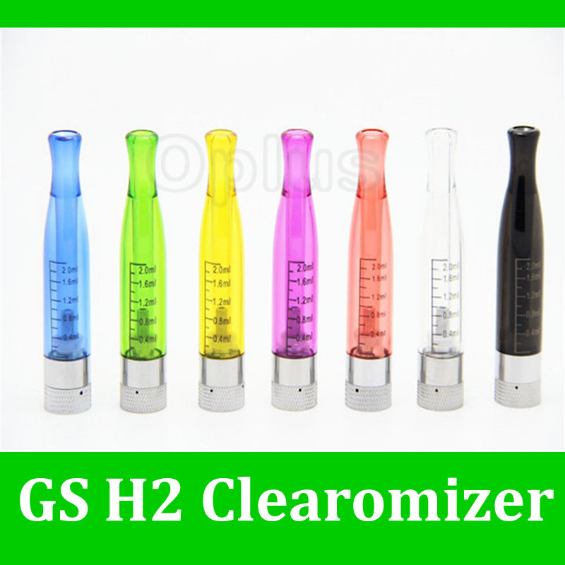 GS H2 Tank Clearomizer Detachable Atomizer 2.0ml 2.4ohm Multi-colors eGo EVOD VV Twist e Cigarette - Oplus store