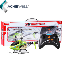 Retail Syma S8 6AXIS Remote Control Helicopter 3 Channel RC Helicopter For Children Adult Gift Indoor Toys Free Shipping