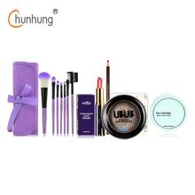 5 Pcs/set Makeup Set Makeup Brushes Set Nude Eye Shadow Lipstick Powder Eye Brow Pencil Make Up Tool 2016 New Cosmetics Kit(China (Mainland))