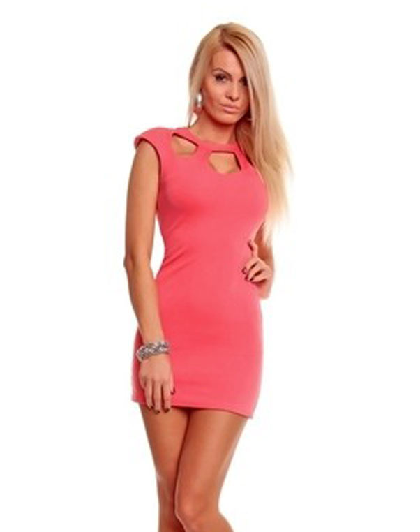 Hot Sale 2015 Summer Women Bandage Dresses O Neck Sleeveless Zipper