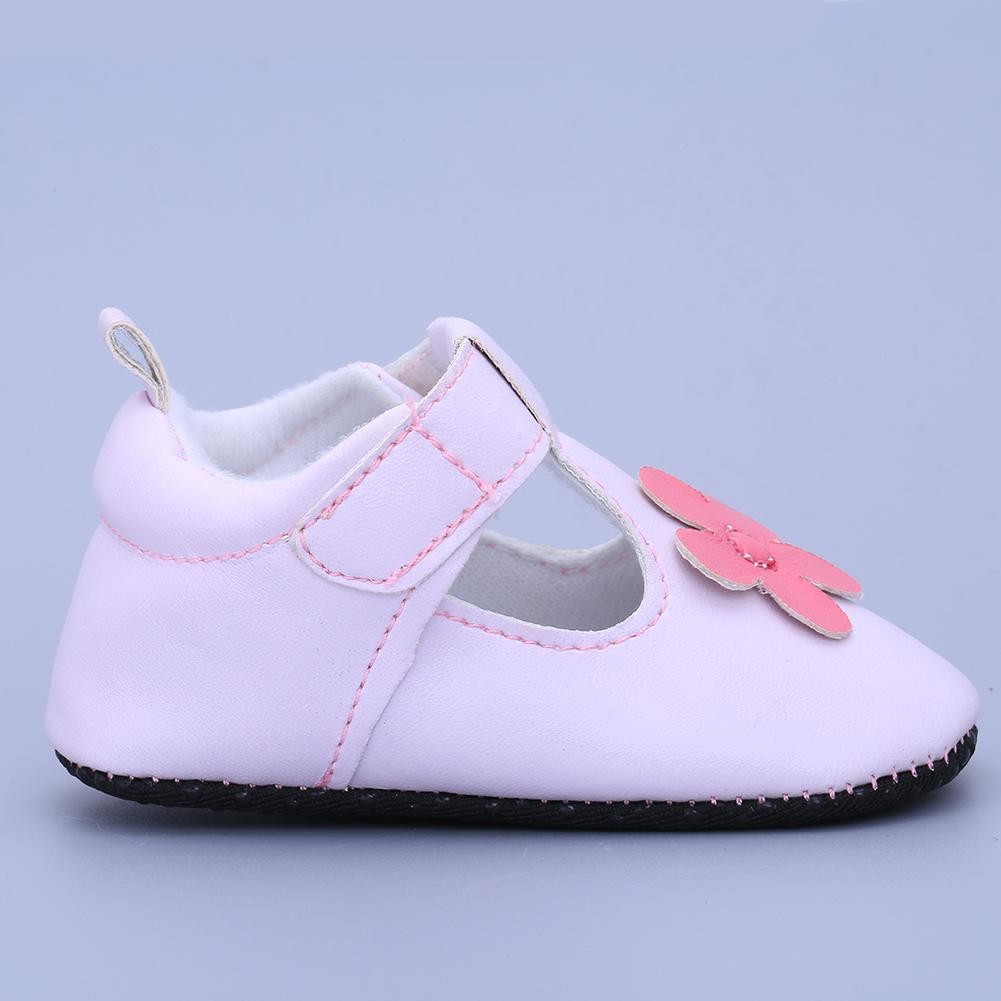 Baby Toddler Infant Girls Flower PU Leather Soft-soled Fashion Sneakers Prewalkers Boots Crib Shoes