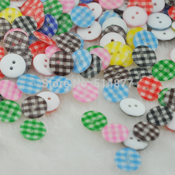 20Pcs New Mix Cute Flower Plastic Resin Button / Sewing Mix 13mm(China (Mainland))