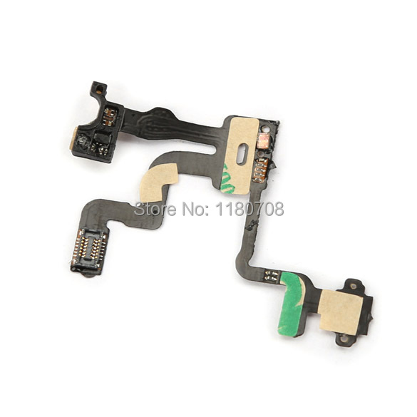 Mobile phone Proximity Light Sensor Power Switch on off Button Flex Cable for 4S(China (Mainland))