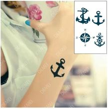 Sex Products Temporary Tattoo  For Man Woman Waterproof Stickers makeup maquiagem make up Anchor compass  tattoo WM053(China (Mainland))