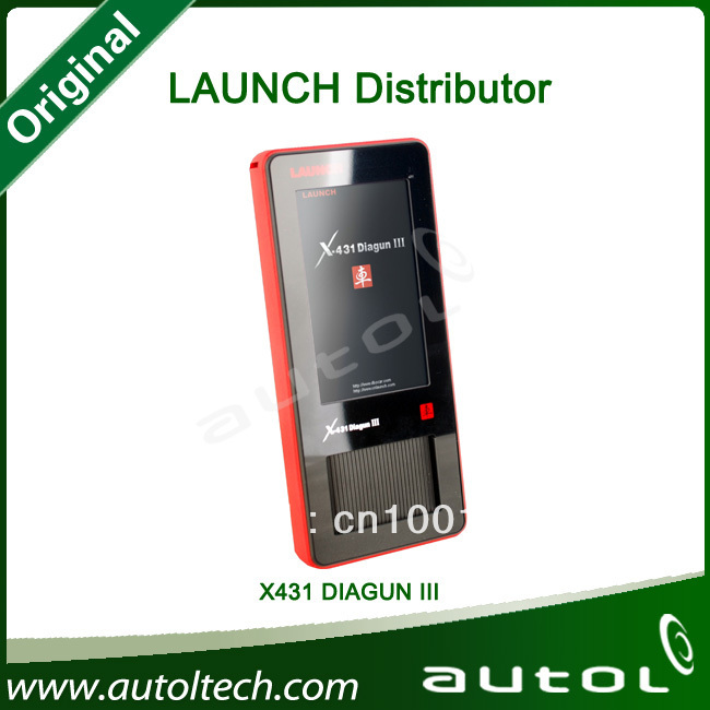 Full Connectors!!!! 100% Original launch x431 diagun iii support 75 Brands Vehicles Multi-languages with Bluetooth Update Online(China (Mainland))